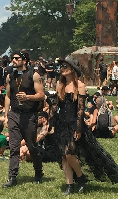 Festivaliers au Hellfest