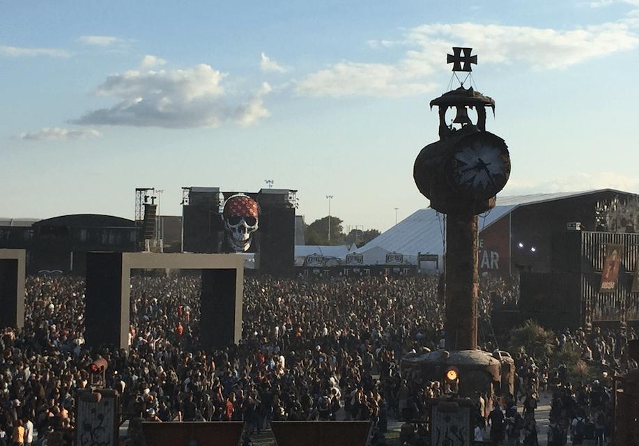 Hellfest vu de la grande roue