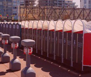 Cabines urinoires pour femmes Touquet Music Beach